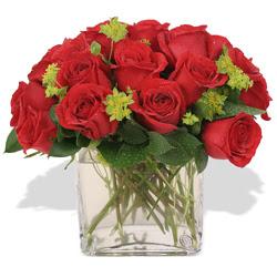 Malatya internetten çiçek satışı  10 adet kirmizi gül ve cam yada mika vazo