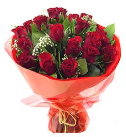 Malatya yurtiçi ve yurtdışı çiçek siparişi  11 adet kimizi gülün ihtisami buket modeli