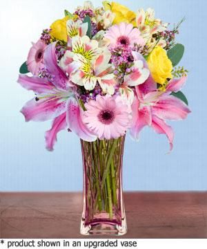 Anneme hediye karisik cam mevsim demeti  Malatya anneler günü çiçek yolla
