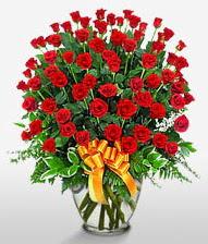 Görsel vazo içerisinde 101 adet gül  Malatya çiçek servisi , çiçekçi adresleri