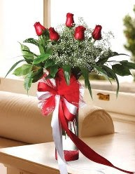 Camda 5 kırmızı gül tanzimi  Malatya internetten çiçek satışı