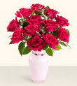 Malatya online çiçek gönderme sipariş  10 kirmizi gül cam yada mika vazo tanzim