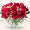 Malatya çiçek yolla , çiçek gönder , çiçekçi   mika yada cam içerisinde 10 gül - sevenler için ideal seçim -