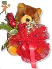 oyuncak ayi ve gül tanzim  Malatya 14 şubat sevgililer günü çiçek