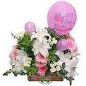 balon ve çiçeklerle tanzim  Malatya uluslararası çiçek gönderme