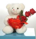 3 adetgül ve oyuncak   Malatya çiçek satışı