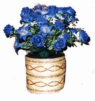 yapay mavi çiçek sepeti  Malatya çiçek mağazası , çiçekçi adresleri