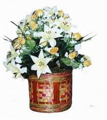 yapay karisik çiçek sepeti   Malatya çiçek mağazası , çiçekçi adresleri
