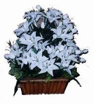 yapay karisik çiçek sepeti   Malatya çiçek online çiçek siparişi