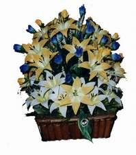 yapay karisik çiçek sepeti   Malatya çiçek siparişi sitesi