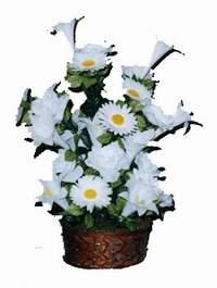 yapay karisik çiçek sepeti  Malatya hediye sevgilime hediye çiçek