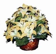 yapay karisik çiçek sepeti   Malatya cicekciler , cicek siparisi
