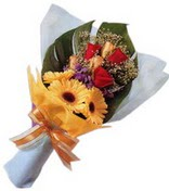 güller ve gerbera çiçekleri   Malatya hediye çiçek yolla
