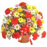 karisik renkli çiçek sepet   Malatya hediye çiçek yolla