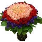 71 adet renkli gül buketi   Malatya çiçek siparişi vermek