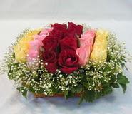 15 adet reprenkli gül sepeti   Malatya çiçekçi mağazası