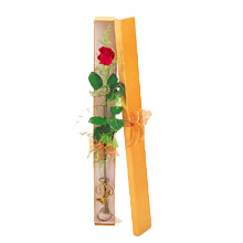 ince  kutuda  1  gül   Malatya çiçekçi mağazası