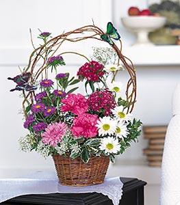 Malatya çiçek mağazası , çiçekçi adresleri  sepet içerisinde karanfil gerbera ve kir çiçekleri