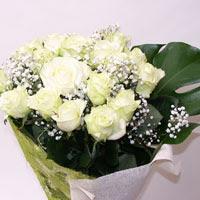 Malatya online çiçek gönderme sipariş  11 adet sade beyaz gül buketi