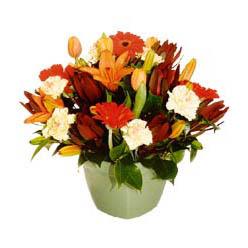 mevsim çiçeklerinden karma aranjman  Malatya çiçek , çiçekçi , çiçekçilik