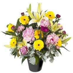 karisik mevsim çiçeklerinden vazo tanzimi  Malatya kaliteli taze ve ucuz çiçekler