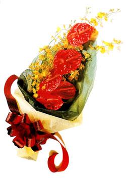 özel 5 adet antorium buketi   Malatya hediye çiçek yolla