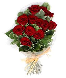 Malatya çiçek , çiçekçi , çiçekçilik  9 lu kirmizi gül buketi.