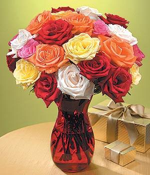 Malatya yurtiçi ve yurtdışı çiçek siparişi  13 adet renkli gül