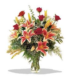 Malatya İnternetten çiçek siparişi  Pembe Lilyum ve Gül