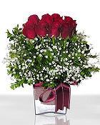 Malatya internetten çiçek siparişi  11 adet gül mika yada cam - anneler günü seçimi -