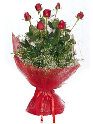 Malatya İnternetten çiçek siparişi  7 adet gülden buket görsel sik sadelik
