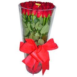 Malatya çiçek yolla , çiçek gönder , çiçekçi   12 adet kirmizi gül cam yada mika vazo tanzim