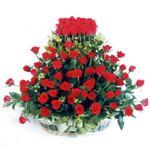 Malatya çiçek yolla  41 adet kirmizi gülden sepet tanzimi