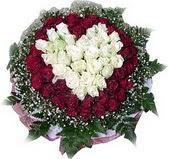 Malatya çiçek gönderme sitemiz güvenlidir  27 adet kirmizi ve beyaz gül sepet içinde