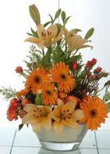 Malatya İnternetten çiçek siparişi  cam yada mika vazo içinde karisik mevsim çiçekleri