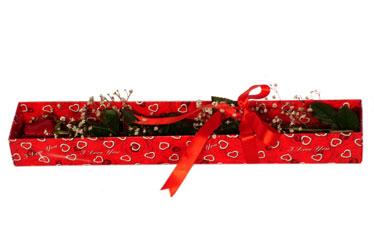 Malatya internetten çiçek satışı  kutu içerisinde 1 adet kirmizi gül