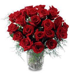 Malatya hediye çiçek yolla  11 adet kirmizi gül cam yada mika vazo içerisinde