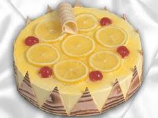 taze pastaci 4 ile 6 kisilik yas pasta limonlu yaspasta  Malatya çiçek online çiçek siparişi
