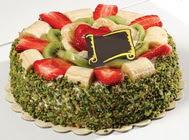 pasta gönder  4 ile 6 kisilik karisik meyvali yas pasta  Malatya anneler günü çiçek yolla