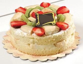 pasta siparisi 4 ile 6 kisilik karisik meyvali yas pasta  Malatya İnternetten çiçek siparişi