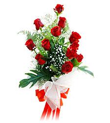 11 adet kirmizi güllerden görsel sölen buket  Malatya hediye sevgilime hediye çiçek