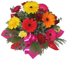 Karisik mevsim çiçeklerinden buket  Malatya online çiçekçi , çiçek siparişi
