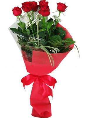 7 adet kirmizi gül buketi  Malatya çiçek , çiçekçi , çiçekçilik