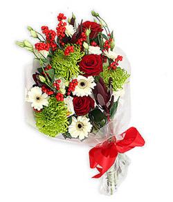 Karisik mevsim buketi çiçek tanzimi  Malatya anneler günü çiçek yolla