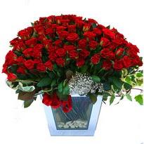 Malatya 14 şubat sevgililer günü çiçek   101 adet kirmizi gül aranjmani