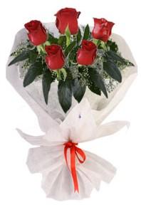 5 adet kirmizi gül buketi  Malatya 14 şubat sevgililer günü çiçek