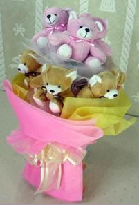 8 adet ayiciktan buket  Malatya çiçek servisi , çiçekçi adresleri