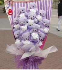 11 adet pelus ayicik buketi  Malatya hediye çiçek yolla