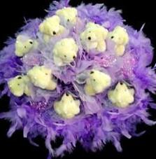 11 adet pelus ayicik buketi  Malatya internetten çiçek siparişi
