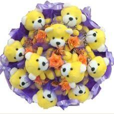 11 adet pelus ayicik buketi  Malatya çiçek gönderme sitemiz güvenlidir